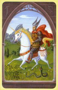 O Cavaleiro / O Mensageiro Baralho Cigano